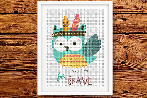 Owl Be Brave - Tribal Animals