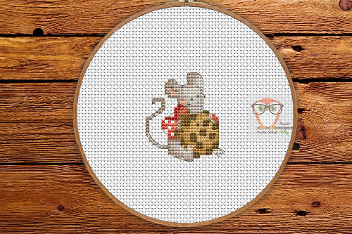 Mouse WIth Cookie - Winter Sampler