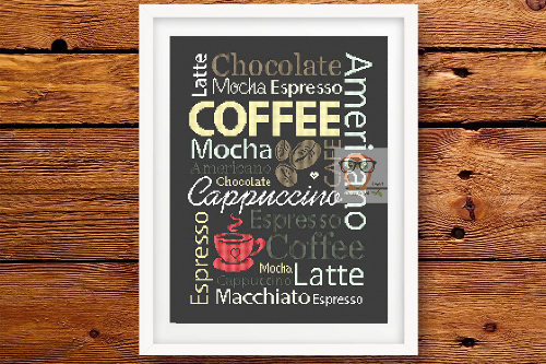 Coffee Sampler cross stitch pattern