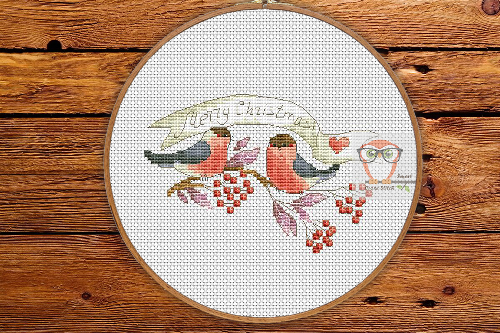 Xmas Bullfinches - Winter Sampler