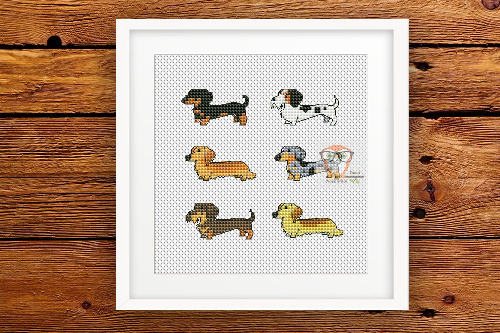 Dachshunds - Set of 6