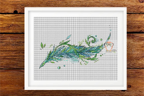 Feather March Cross Stitch Pattern