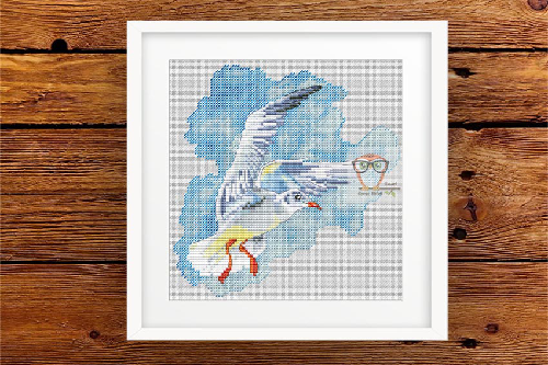 Seagull #2 cross stitch pattern