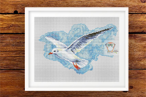 Seagull #1 cross stitch pattern