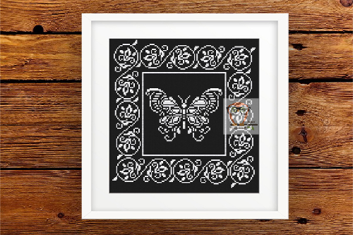 Butterfly Lace Ornament