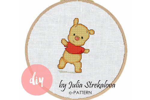 Cross stitch pattern pdf funny bear